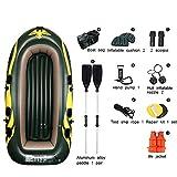 Challenger Kayak - 4-Personen-Faltkajak-Set Mit Schlauchboot, Aluminiumrudern Und Handpumpe for Strand, Rafting, Surfangler Und Freizeitsport - Grün (Size : Green-A)