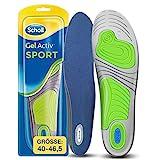 Scholl GelActiv Einlegesohlen Sport für Sportschuhe von 40-46,5 – 30% Stoßdämpfung & Entlastung der Gelenke – 1 Paar Gelsohlen