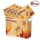 Supchamp Handwärmer, 10 Stück Einweghandschuhwärmer, bis zu 10 Stunden Wärme, Sichere, Geruchsneutrale Handwärmepads für Outdoor-Aktivitäten im Winter