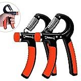 Huttoly Handtrainer, 2er-Set Hand Trainingsgerät 5-60kg Einstellbarer Widerstandsbereich Unterarm Krafttraining Schwer Handgelenk Fingerhantel Handmuskeltrainer