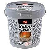Viva Decor® Gieß-Beton für Kreative (1,5kg) Beton Deko - kreativ Basteln mit dem Bastelbeton zum Gießen - oder als Abformmasse für Deko - Made in Germany