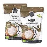 2 x borchers Bio Premium Kokosmehl,zum Kochen und Backen, Ballaststoffreich, Proteinquelle, Weizenfrei, Entölt, Vegan 400 g (2 x 400 g)