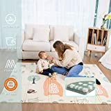 Baby Spiel Matte Spielmatte Verdickte Vergrößerte Schaumstoffmatte Faltbare Krabbelmatte Wasserdicht Tragbar Geeignet für Kinder(Bär)