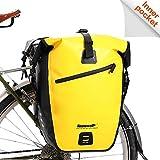 Rhinowalk Fahrradtasche wasserdichte Fahrradtasche 27L, (für Fahrrad Gepäckträger Satteltasche Umhängetasche Laptop Gepäckträger Fahrradtasche Professionelles Fahrradzubehör)-Gelb