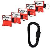 Gimars 5 Stücke CPR Maske mit Karabinerhaken CPR Mask Beatmungsmaske Schlüsselanhänger Beatmungshilfe Notfalltuch Taschenmaske Erste Hilfe
