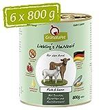 Liebling's Mahlzeit Nassfutter Kalb & Lamm, 6er Pack (6 x 800 g)