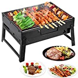 Mbuynow Picknickgrill Kleiner Grill Klappgrill Tragbarer BBQ Grill Holzkohlegrill für Camping Garten Party Barbecue (L 34cm x W 30cm x H 20cm)