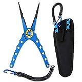 Lixada 20cm Außen multifunktionale Angeln Zangen Linie Cutter Hook Remover Tackle (Blau)