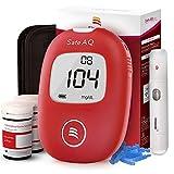Blutzuckermessgerät Set - Safe AQ Smart - mit 50 Teststreifen 50 Lanzette Stechhilfe - für Diabetes mg/dL mit deutscher Bedienungsanleitung