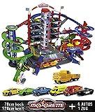 Majorette 212059989 Super City Garage motorisierte Bahn für Modellautos mit Parkplätzen und Eisenbahn Parkhaus für Die-cast Autos Spielzeug als Geschenk für Jungen und Mädchen ab 5 Jahren, mehrfarbig