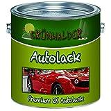 Grünwalder Premium 2 Komponenten Autolack glänzender Landmaschinenlack, hochdeckender und schlagfester Lack mit passendem Härter Set - nur Zwei dünne Anstriche! (RAL 7016 Anthrazitgrau, 1 L)
