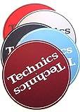 Technics Slipmats Plattentellerauflage aus Filz für LP Vinyl Schallplatten - twist4® (Rot)
