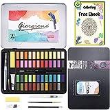 DazSpirit 48 Aquarell Farbkasten, Aquarellfarben Wasserfarben Set, mit Aquarell-Papierblock Vielseitig, Lebendig und Tragbar