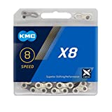 KMC X8-93 Kette, 114 Glieder, Silber/Grau