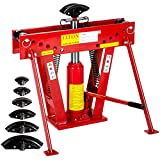 TecTake Rohrbiegemaschine Rohrbieger Biegemaschine Rohrbiegegerät hydraulisch 12 Ton. inkl. 6 Druckstücke 43 kg