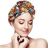 Archiba Haar trocken Capcolorful Nahtlose Paisley-Muster dekorative Handtuch Turban Wrap weichen Duschkopf Handtuch Schnelltrockner Hut