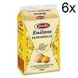 6x Barilla Emiliane Pappardelle all'uovo Nudeln mit ei 250 gr