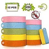 Vegena Mückenschutz Armband, 12 Stück Anti Moskito Mückenarmband Naturals Insektenschutz Anti Mücken Armband Repellent Armbänder für Outdoor und Indoor