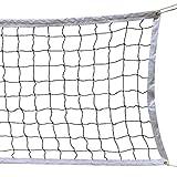 SIVENKE Volleyball Netz Faltbar Offiziell Standardgröße Indoor Outdoor Garten Strand Sport Net für Federball Tennis Volleyball mit Tragetasche 9.5m x 1m