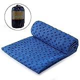 OhhGo Yogatuch rutschfestes saugfähiges Yogamattentuch mit Tragetasche für heißes Yoga Pilates Training 183 * 63cm