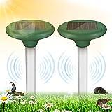 Vivibel 2 Stück Solar Maulwurfabwehr, IP65 Ultrasonic Maulwurfschreck, wühlmausschreck solar, Mole Repellent, Maulwurfbekämpfung, ultraschall maulwurfschreck, Wühlmausvertreiber für den Garten