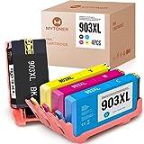[Neuer Chip] MYTONER kompatibel für HP 903XL 903 XL Multipack Druckerpatronen für HP OfficeJet 6950 OfficeJet Pro 6960 6970 Tintenpatrone 4 Pack (Schwarz/Cyan/Magenta/Gelb)