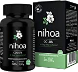 Nihoa Colon 14 Tage Express, natürlich rein und vegan mit Flohsamen + Leinsamen + Aloe Vera, Experten Rezeptur mit 9 pflanzlichen Stoffen, 28 Kapseln