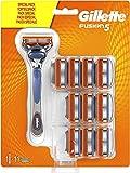 Gillette Fusion 5 Rasierer Herren mit Trimmer für Präzision und Gleitbeschichtung, Rasierer + 11 Rasierklingen