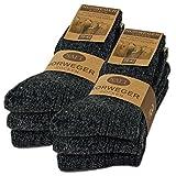 6 Paar Norweger Socken mit Wolle Damen & Herren Schwarz Grau Anthrazit Wintersocken - AD220 (43-46, 6 Paar | Anthrazit)