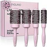 Bio Rundbürsten Set für Damen | recycelbare Rundbürste & Rundhaarbürste im Set für die Föhntrocknung | nachhaltige Geschenke von Lily England in Pink