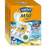 Swirl M 50 MicroPor Plus Staubsaugerbeutel für Miele Staubsauger   Anti-Allergen-Filter   Dauerhaft hohe Saugleistung   10 Stück inkl. 2 Filter