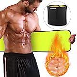 Bauchweggürtel Bauchgürtel, Schwitzgürtel, Hot Sauna Belt, Bauch Fett Weg Gürtel, Bauchgurt für Damen und Männer Zum Schwitzen und Abnehmen mit Tragetasche
