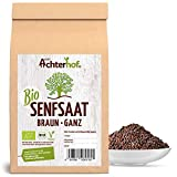 Bio-Senfsamen Senfsaat Senfkörner schwarz auch braun genannt (250g) vom-Achterhof ideal zur Senf-Herstellung