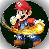 Fondant Tortenaufleger Tortenbild Geburtstag Super Mario T35