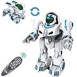 fisca Fernbedienung Roboter RC Fingerprinting Transformieren Smart Walking Tanzen Intelligente programmierbare Roboter Spielzeug mit Licht und Ton für Kinder Jungen Mädchen