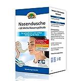 SUNLIFE Nasendusche + 10 x Nasenspülsalz zur Reinigung und Befeuchtung der Nase