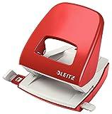 Leitz NeXXt Bürolocher, 30 Blatt, Anschlagschiene mit Formatangaben, Metall, Rot, 50086025