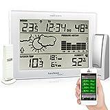 Mobile Alerts MA 10006 Set inklusive Wetterstation MA10410 (mit Alexa kopatibel) und Gateway, Datenübertragung von Temperatur und Luftfeucht direkt aufdas Smartphone, weiß, 12,7 x 3 x 17,1 cm