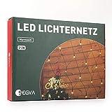 SEGVA LED Lichternetz 3m x 2m, 200er LED Netz Lichterkette für Weihnachten Deko Party Fest - Warmweiß
