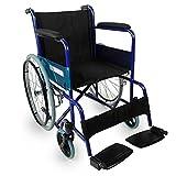 Mobiclinic, Alcázar, Faltrollstuhl, orthopädisch, Rollstuhl für Ältere und behinderte Menschen, manuell, Hebelbremse, feste Armlehnen und klappbare Fußstützen, ultraleicht, Blau