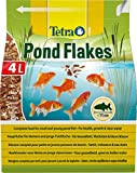 Tetra Pond Flakes – Fischfutter für kleinere und junge Teichfische in Flockenform, für eine abwechslungsreiche und ausgewogene Ernährung, verschiedene Größen
