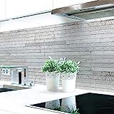 Küchenrückwand Steinschichten Grau Premium Hart-PVC 0,4 mm selbstklebend - Direkt auf die Fliesen, Größe:Materialprobe A4