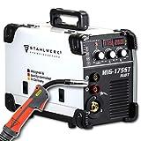 STAHLWERK MIG 175 ST IGBT - MIG MAG Schutzgas Schweißgerät mit 175 Ampere, FLUX Fülldraht geeignet, mit MMA E-Hand, weiß, 7 Jahre Herstellergarantie