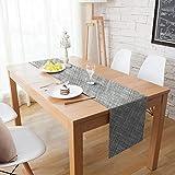 Homcomodar Tischläufer Waschbar Hitzebeständig PVC Läufer Tischläufer für Esstisch 30x135cm(grau)