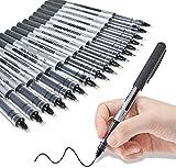 GOLDGE 17PCS Tintenroller Stifte 0.5mm Schwarze Gelstifte Schnelltrocknende Flüssigtinte für Schreiben Notizen Unterschrift und Bürounterschriften