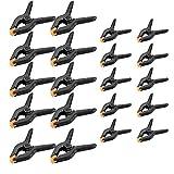 20 Stück Klemmzwingen, 2 Zoll 3 Zoll Federzwinge, Schraubzwingen Set Mit Schnellspanner, Metall Federklemmen Clip Set