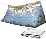 Semptec Urban Survival Technology Notfallzelt: Notfall-Zelt für 2 Personen, Ultraleicht, hitzeabweisend, kältedämmend (Mini Zelt)