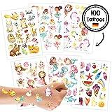 Papierdrachen Tattoo Set 2 Kindergeburtstag Mädchen