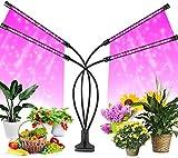 FiBiSonic LED Pflanzenlampe, 40 W, 80 LEDs, Vollspektrum 360 ° einstellbare LED Wachstumslampe, Pflanzenlicht mit zeitschaltuhr, 3 Modi, 9 Helligkeitsstufen, LED Grow Light Für Gartenarbeit Bonsais