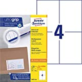 AVERY Zweckform 3483-200 Universal Etiketten (800 plus 80 Klebeetiketten extra, 105x148mm auf A4, bedruckbare Versandetiketten, selbstklebende Versandaufkleber mit ultragrip) 220 Blatt, weiß